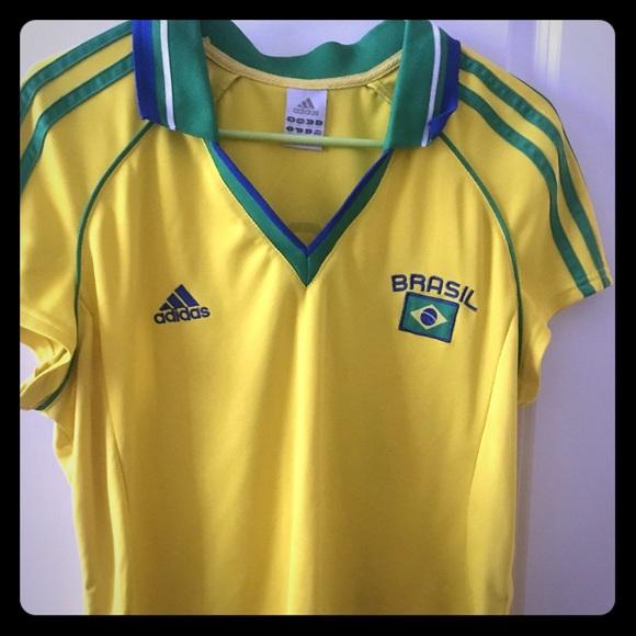 adidas Tops   Adidas Brazil Jersey For Women Size Lxl   Poshmark